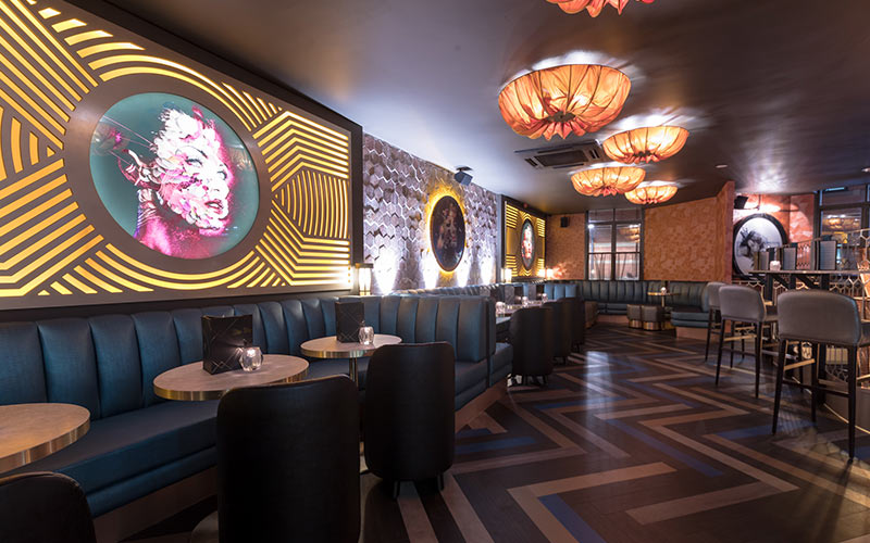 The interior of Dirty Martini