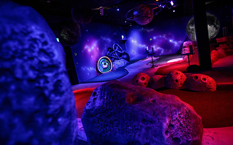 Inside Mr Mulligan's Space Golf