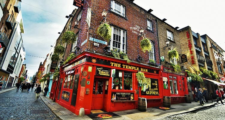 The exterior of Dublin's Temple Bar