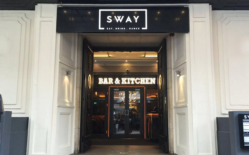 Exterior of Sway London