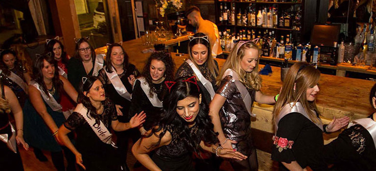 Some girls on a hen party in Brighton