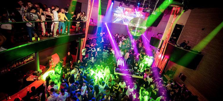 A busy nightclub in Madrid