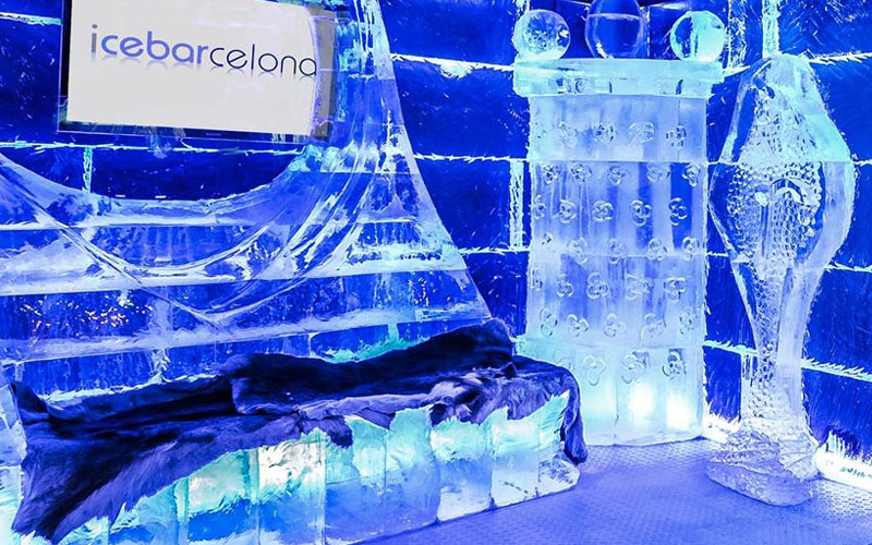 The interiors of Ice Bar in Barcelona