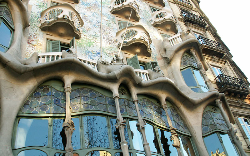A gaudi building in Barcelona