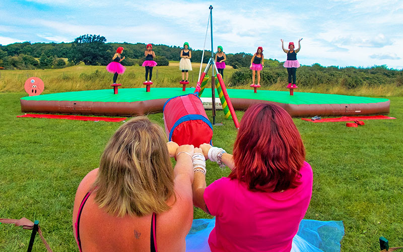 Some women playing West Country Games