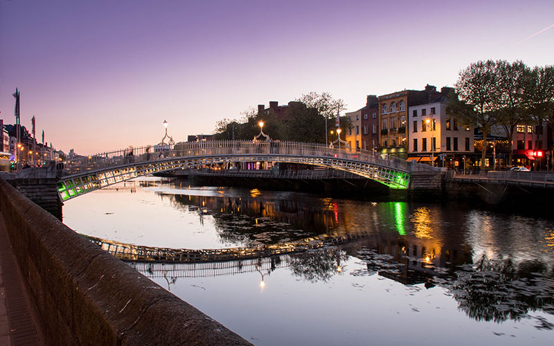 A bridge over the River Liffey in Dublin