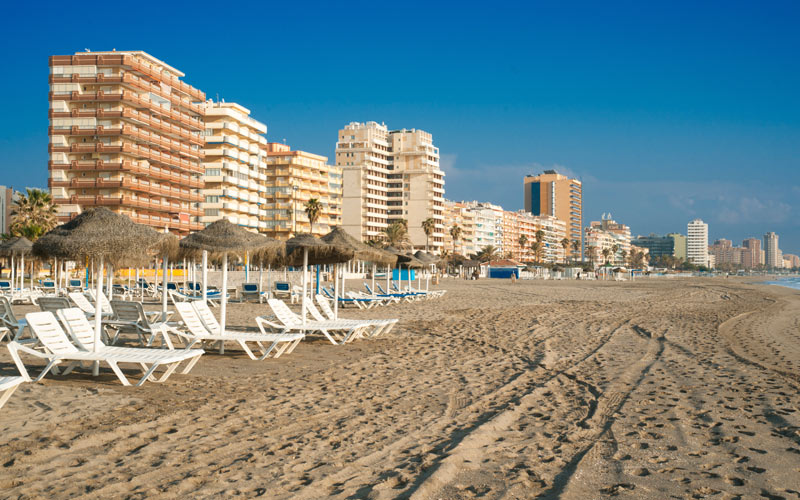 A beach in Marbella