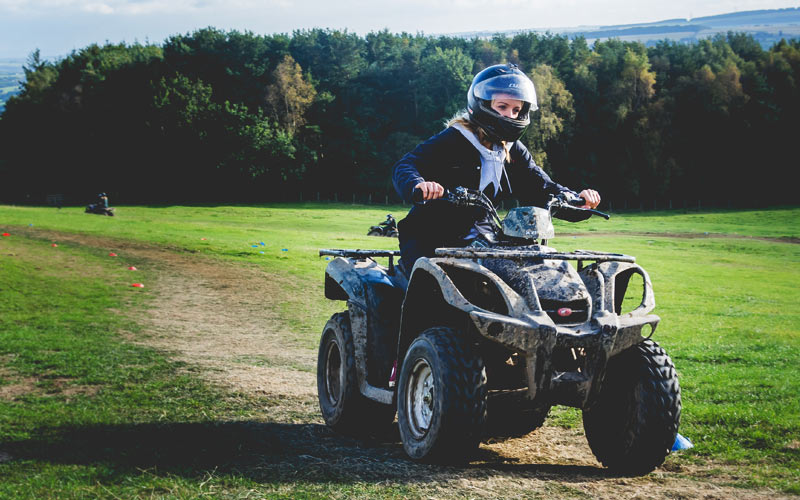A girl on a quad bike in Fury Events