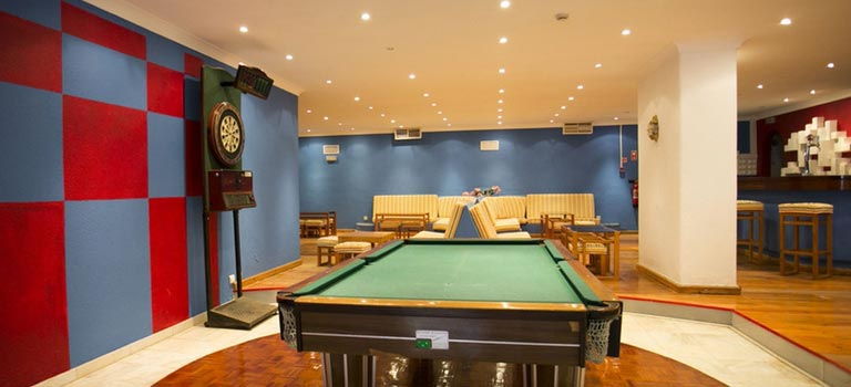 A games room in an Algarve hotel