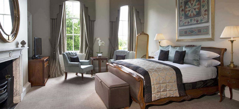 A luxury room in a hotel in bath