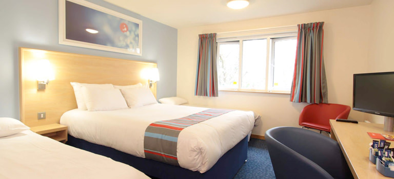 A double hotel room in Harrogate Travellodge for a hen weekend
