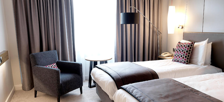 Stylish and comfortable double room in Crown Plaza Harrogate for a hen weekend