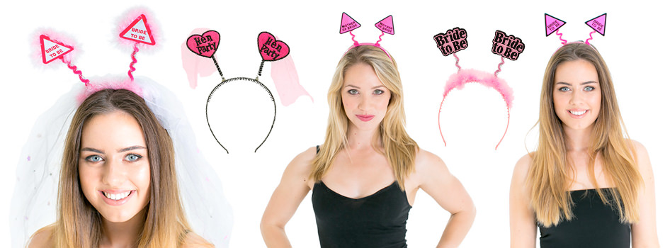 Five sets of boppers, three being modelled.