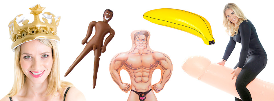 Inflatable dolls, bananas, crowns and more.