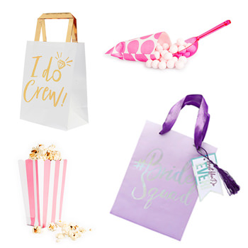 Four of the different gift bags we have in our range.