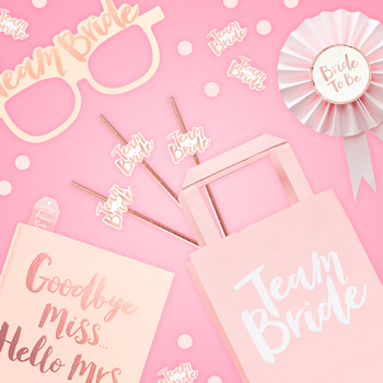 The team bride collection including loads of different products.