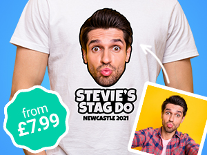 Stag do t-shirts from £5.99