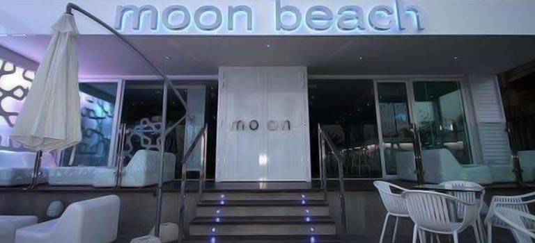 The exterior of Moon Beach club in Benidorm