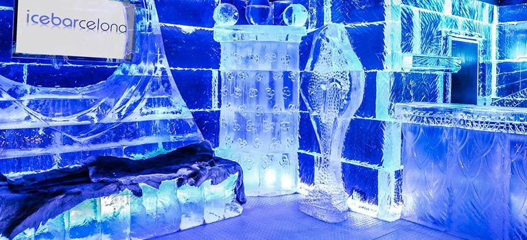 Barcelona Ice Bar interiors