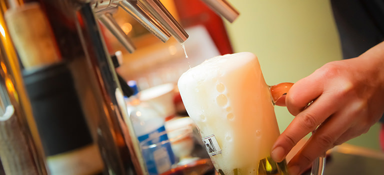 A pint being poured