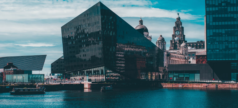 A view of Liverpool docks area