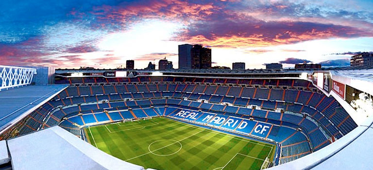A football ground in Madrid
