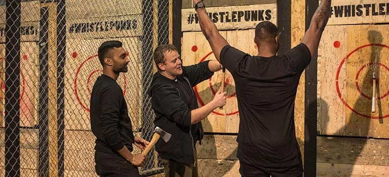 The Urban Axe Throwing stag do activity