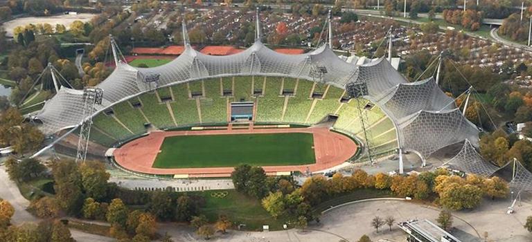 The football ground in Munich