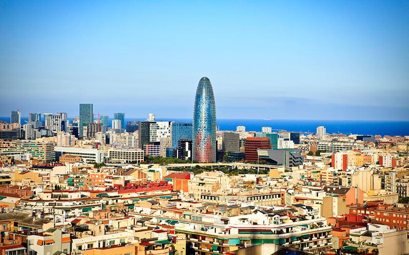 The Gherkin on Barcelona's sky line
