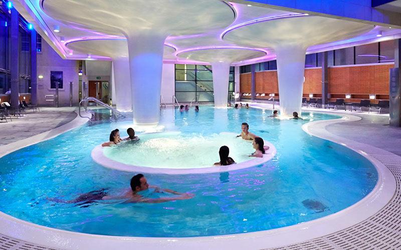 A circular shaped swimming pool in Bath