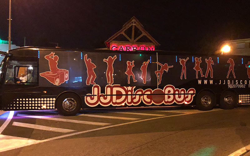 A bus in Benidorm