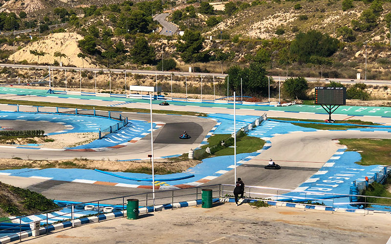 A karting track in Benidorm