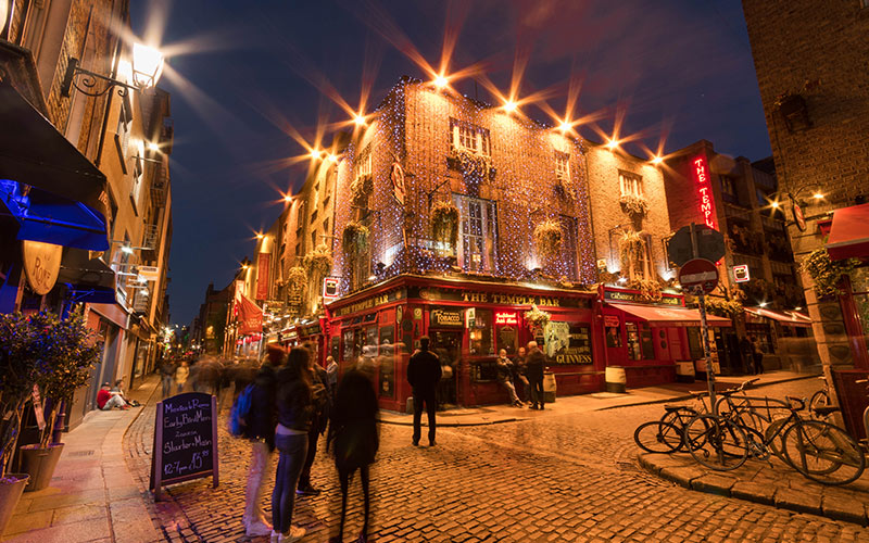 The exterior of The Temple Bar pub