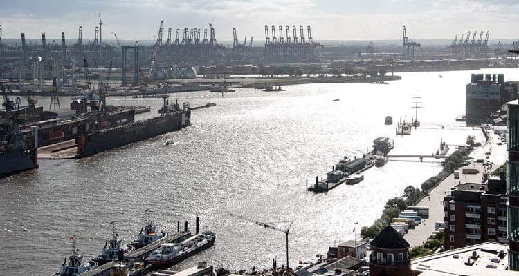 Port and Harbour of Hamburg