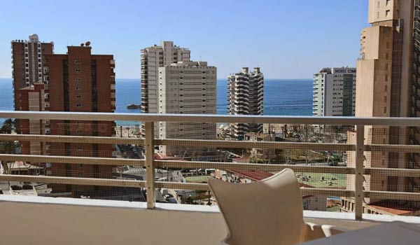 A view from a balcony in Benidorm