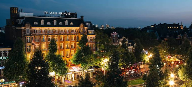 A grand hotel in Amsterdam