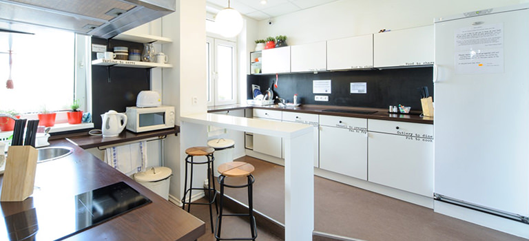 A kitchen area in a Bratislava apartment