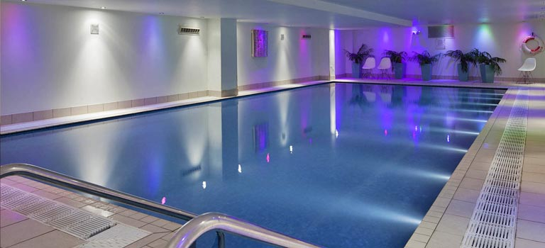 A swimming pool in a Bristol hotel