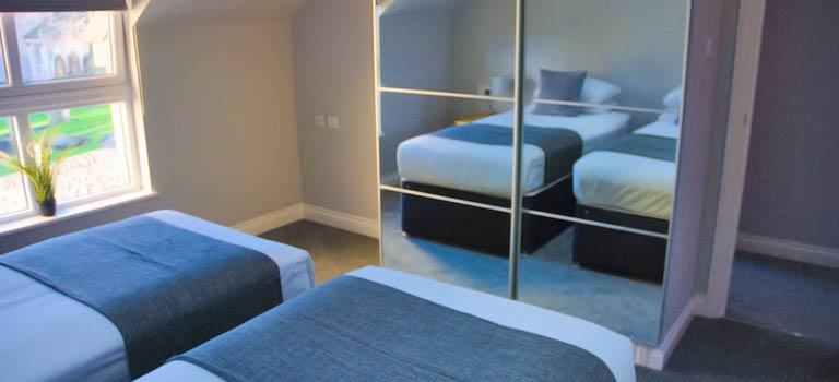 A bedroom in Edinburgh