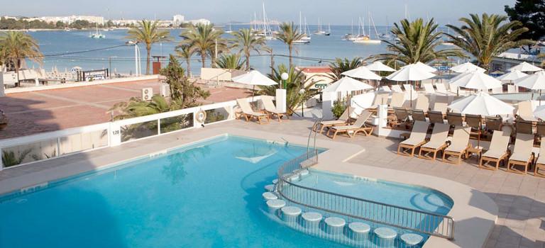 A pool area in an Ibiza hotel