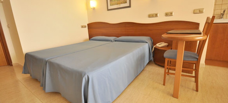 A double bedroom in an Ibiza hotel