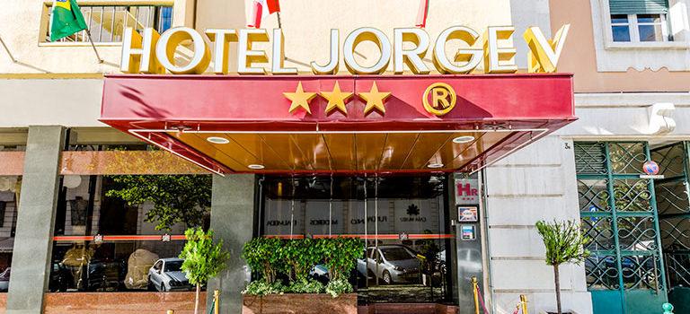 A hotel entrance in Lisbon
