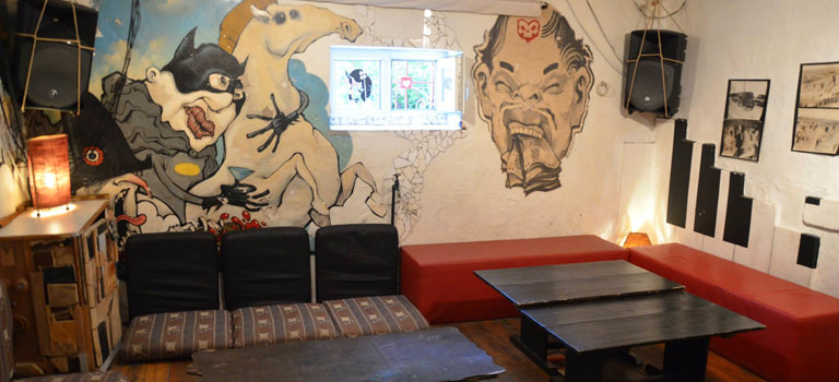A hostel lounge area in Sofia