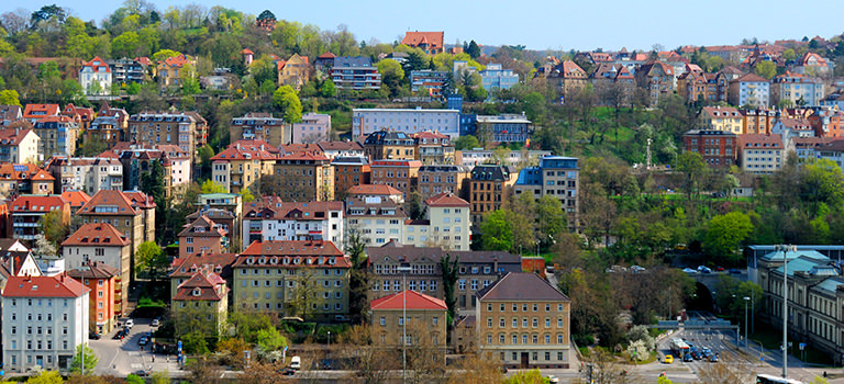 Rows of houses in Stuttgart