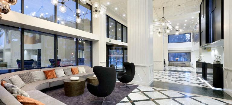 A hotel lobby in Valencia