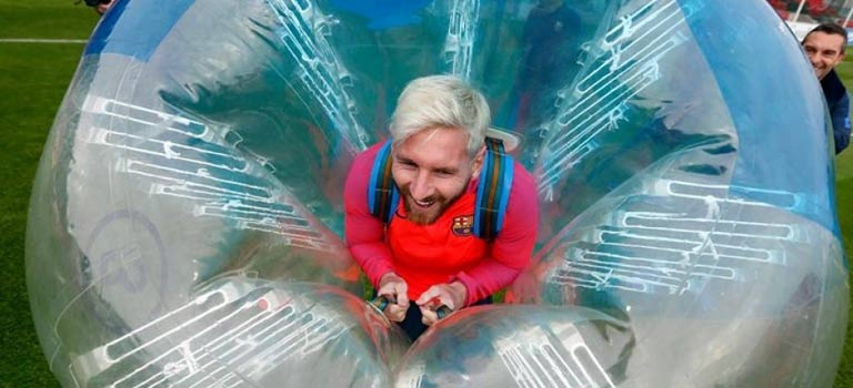 Messi in a zorb