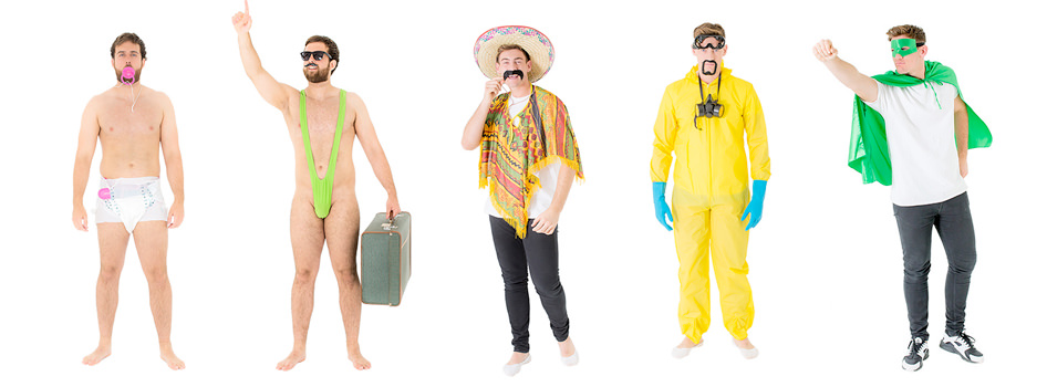 A collection of budget stag do outfits