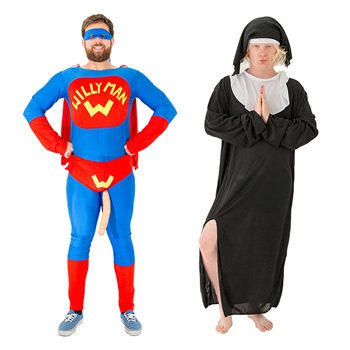 A willy man and a nun costume