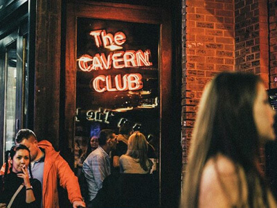 A view of the Cavern Club in the Cavern Quarter
