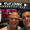 Two men outside the 4Play Lounge